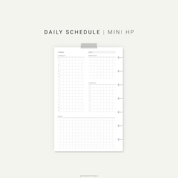 image about Daily Planners identify Day by day Planner Printable Pleased Planner Mini, Everyday Planners and Organizers, Everyday Program Printable, Day-to-day Program Discbound Planner