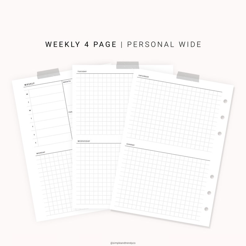 graphic relating to Weekly Schedule Template Printable called Undated Weekly Planner Printable Individual Broad, Weekly Plan Template Printable, Printable Weekly Calendar Internet pages, Weekly Plan