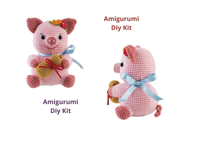 DIY KIT  Amigurumi  crochet  gift  Fukumura  diy kit  image 0