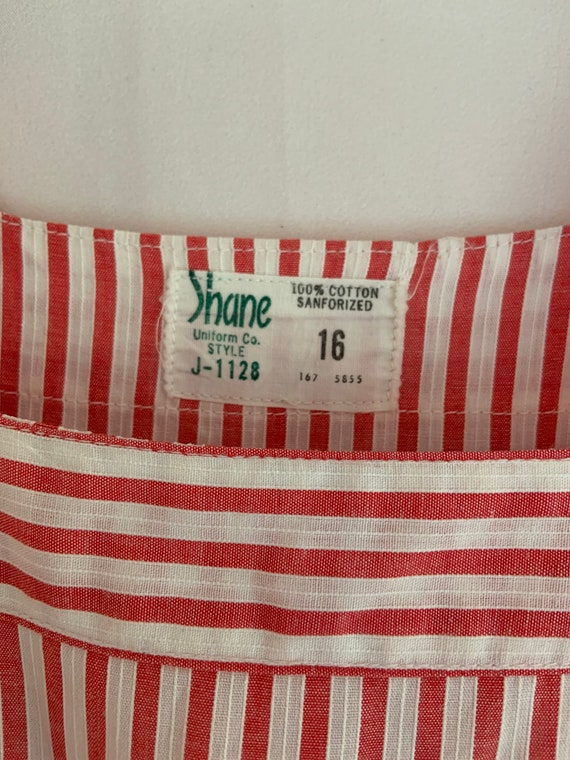 1940s Vintage SHANE Uniform Candy Striper Pinstri… - image 8