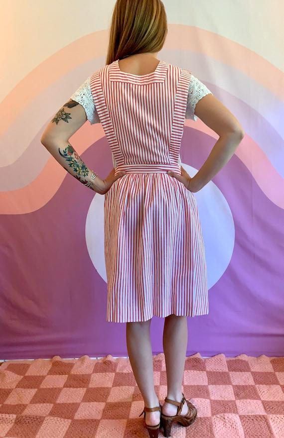 1940s Vintage SHANE Uniform Candy Striper Pinstri… - image 5