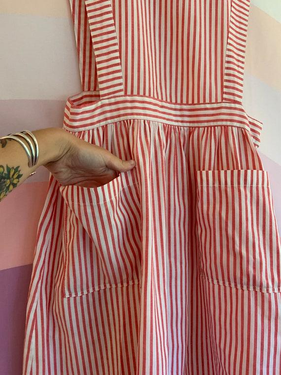 1940s Vintage SHANE Uniform Candy Striper Pinstri… - image 9