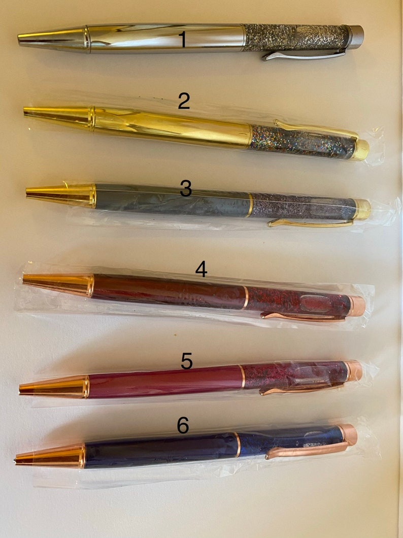 Floating glitter pens!
