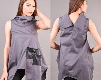 79a6d023b6b Asymmetrical Tunic, Loose Tunic, Extravagant Tunic, Oversize Tunic, Summer  Tunic, Women Tunic, Maxi Tunic, Asymmetric Top Plus Size Clothing