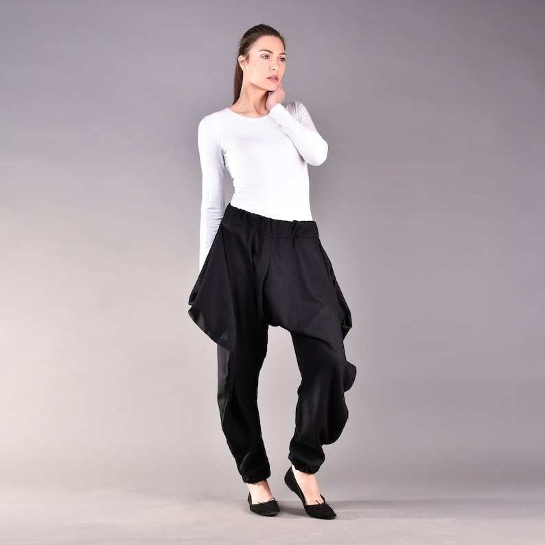 Wide Leg Linen Pants Black Women Pants Linen Clothing Linen Pants Plus Size Linen Loose Linen Pants Loose Pants Black Linen Pants