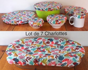 """lot of 3, 6 or 7 charlottes """"Jungle"""" for flat, zero waste"""