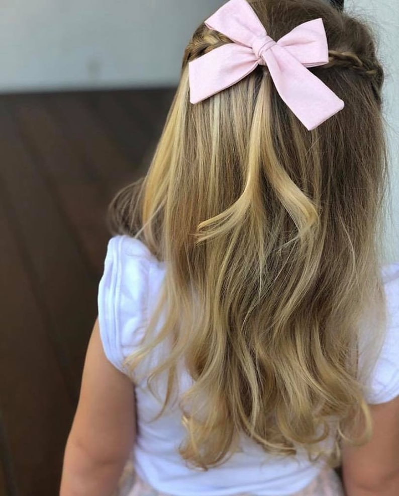 Set of 3 bows  baby bows  baby headbandslarge baby bows large baby headbands pink baby bow white bow headband hair clips bow clips