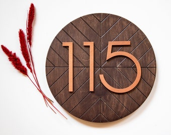 Copper House Number Etsy