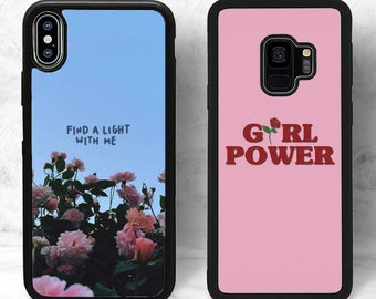 47e2aa171e Find a Light With Me Phone Case Girl Power Aesthetic Pink Floral Rose  (iPhone, Samsung Galaxy Note, Google Pixel, LG, Motorola, Huawei)