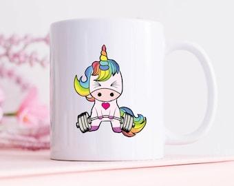 Unicorn Mug, Unicorn Gym Mug, Unicorn Weightlifting, Weightlifting Mug, Fitness Mug, Unicorn Coffee Mug, Workout Mug, Funny Coffee Mug
