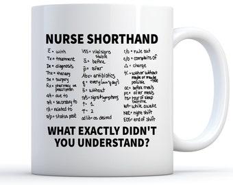fe80d3f11d4 Nurse Mug, Nurse Shorthand Mug, Nurse Gift, Nurse Coffee Mug, Nursing  School Gift, Nursing School Graduate, Registered Nurse, Nursing