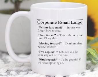 Corporate Email Lingo coffee cup mug </div>                             </div>               </div>       <div class=