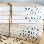 Personalized Books, Neutral Decor, Farmhouse, Custom Book Set, Personalized Gifts, Modern Farmhouse, Vintage
