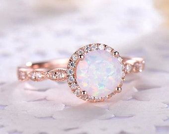 Tribal Ring Fire Opal Ring Patterned Ring Pink Opal Ring 925 Sterling Silver Pink Opal Band Raw Opal Ring Silver Opal Ring