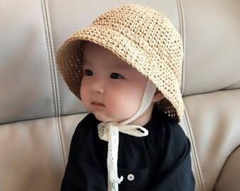 81660d76757 PATTERN Baby sun hat - Crochet straw paper hat