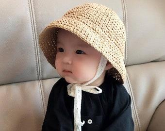 430a198eb21 PATTERN Baby sun hat - Crochet straw paper hat