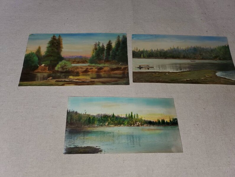 3 Vintage photos color tinted?