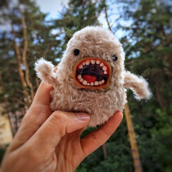 Monster toy, Doll Fantasyr art ooak fairy creature cute doll miniature, Critter toy, handmade toy, gift lover monsters