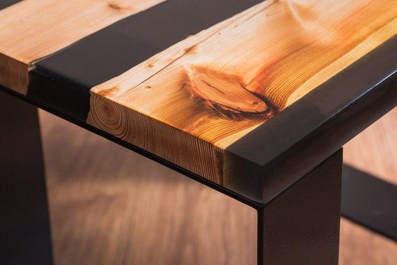 Live Edge Wood Slab Coffee Table Epoxy Resin River Desk Rustic Etsy