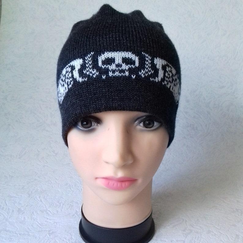 34e1050eea0 Winter hat for men knitted hat with skull men s hat
