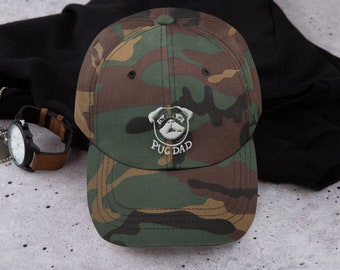 Pug cap, Dad hat, pug dad, original artwork