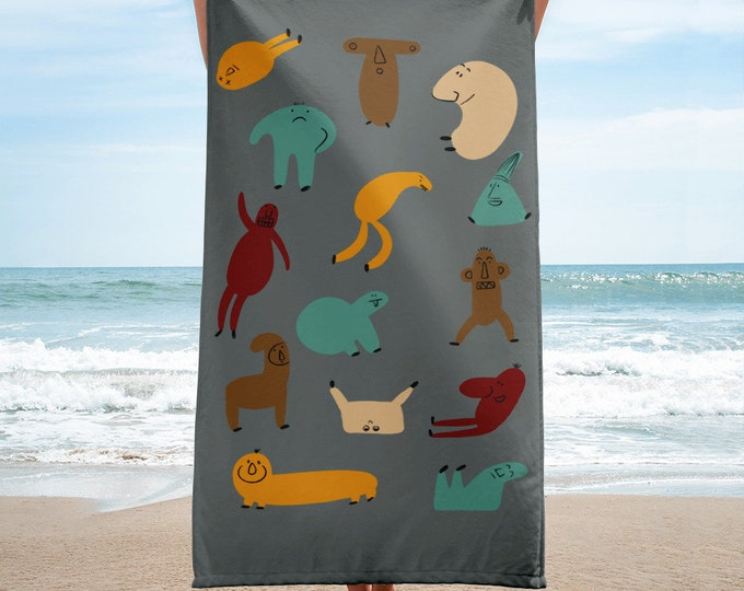 Graphic Towel, Beach towel, original artwork