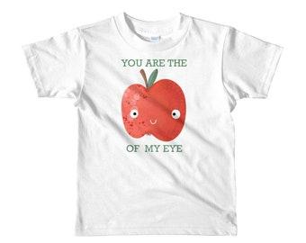 Apple kids t-shirt, you are the Apple of my eye, original artwork