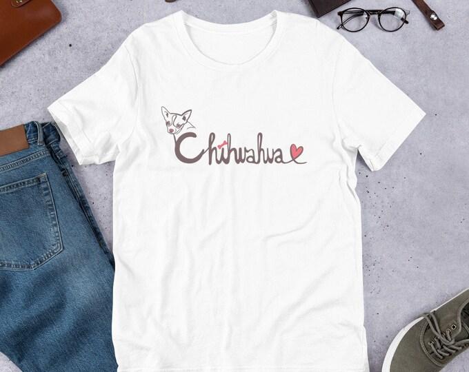 Chihuahua T-Shirt, with heart, original artwork