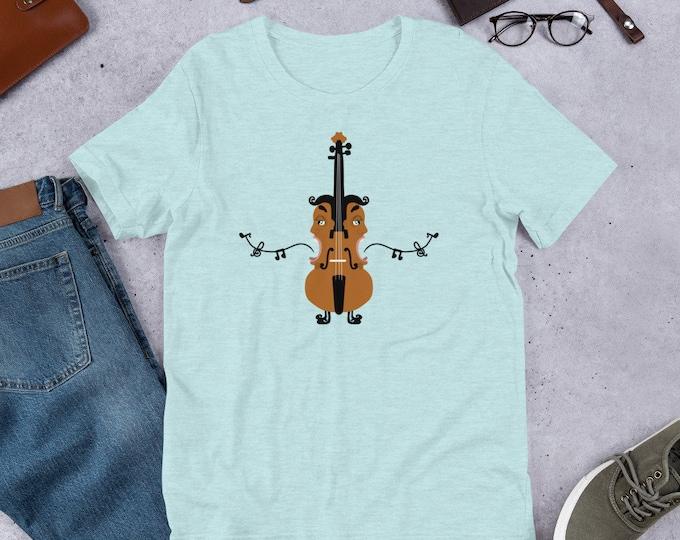 Violin T-Shirt, fun violin, singing heads shirt, original artwork