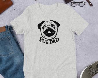 Pug dad T-Shirt, pug face, original artwork