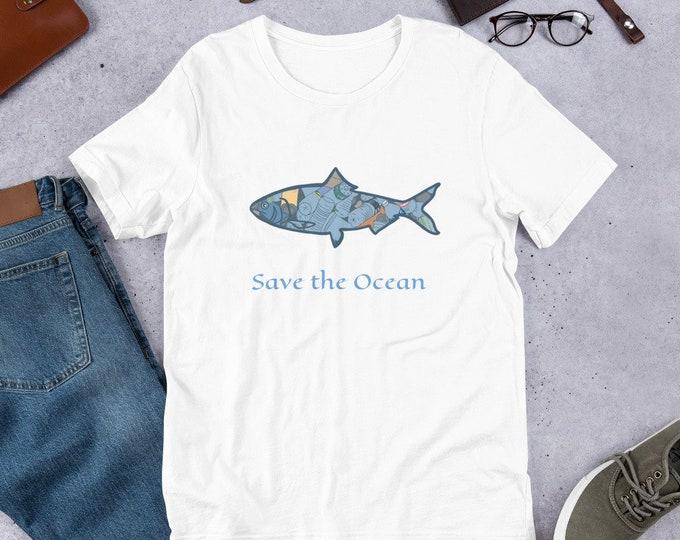 Statement T-Shirt, plastic polution statement tee, save the ocean, original artwork