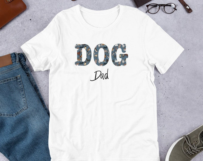 Dog dad T-Shirt, dog pattern, original artwork