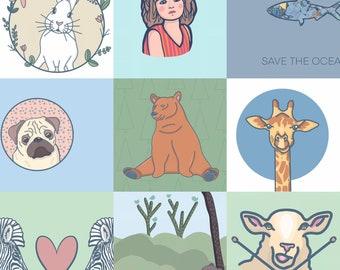 Digital art download, of any of my designs. Original artwork.