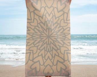 Heart Towel, Earth colors, original artwork