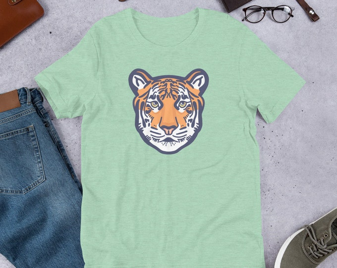Tiger T-Shirt, Tiger head unisex tee, original artwork