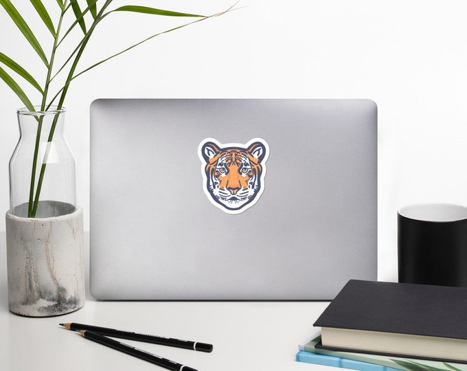 Tiger sticker, Bubble-free sticker, original artwork