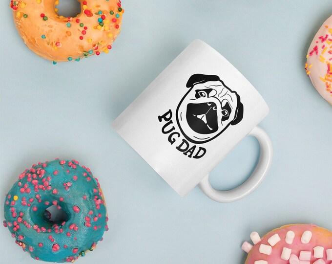 Pug dad Mug, original artwork