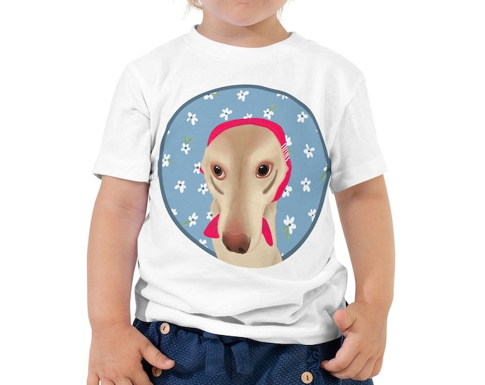 Toddler Short Sleeve Tee, with dog motive, original artwork