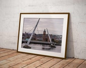 Peace Bridge Derry | River Foyle and Guildhall | Derry Photos | Derry Prints