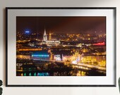Derry City - Night Time - St Eugenes Cathedral and St Columbs Cathedral | Derry Photos | Derry Prints | Irish Landscapes