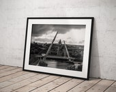 Peace Bridge Derry | River Foyle and Guildhall | Derry Photos | Derry Prints | Black and White collection