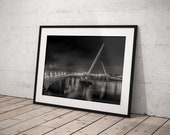 Peace Bridge picture | Derry black and white | River Foyle | Derry Photos | Derry Prints | Black and White collection
