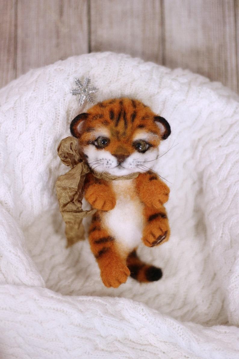 Kleine Tiger Spielzeug Handarbeit Tiger Spielzeug Innen Spielzeug Der Tiger Gefilzt Tier Filzen Wolle Nadel Gefilzt Tiger Littlehome Dekor
