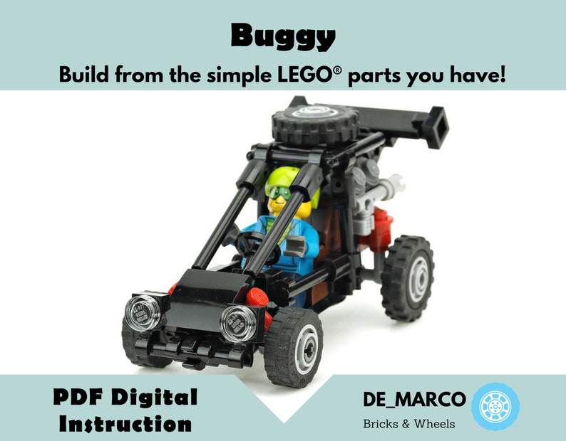Lego moc | Custom Lego set instruction | Buggy gift DIY Tutorial | Buggy  model for Lego City