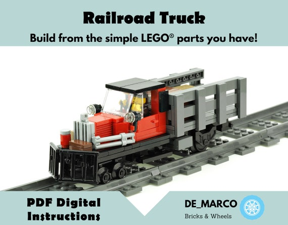 LEGO TRAIN BRIDGE CUSTOM STEEL RAILROAD BRIDGE w PARTS /& INSTRUCTIONS