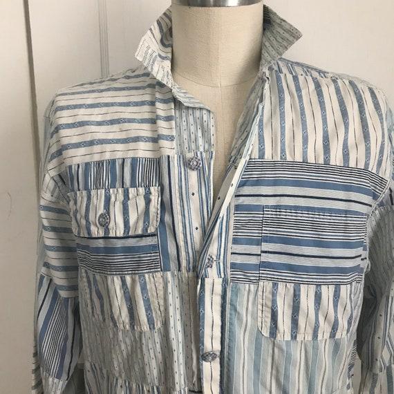 Ralph Lauren Shirt Country Patchwork Blue Shirt