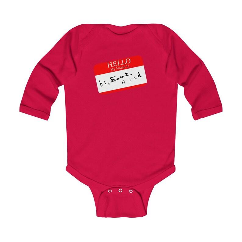 Big Head-Infant Long Sleeve Bodysuit-Funny Baby One Piece-Big Head Baby-Funny Baby Shower Gift-Baby Gift for Mom-Funny Baby Quote Big Foot