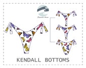 DIY Reversible Side Tie Bikini Bottoms (3 Coverage Options) PDF Sewing Pattern Kendall Bottoms