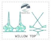 DIY Peek-a-Boo Bikini Top Willow Top PDF Sewing Pattern
