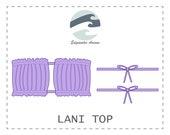 FREE Lani Top DIY Reversible Ruched Bandeau Bikini Top PDF Pattern